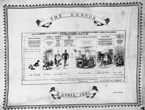 A census form reproduced as a table mat. The columns...