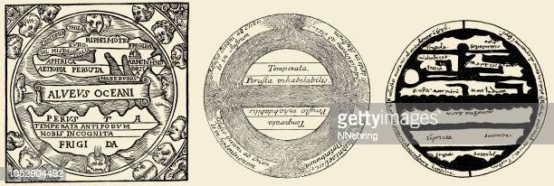 5th century maps of the Earth by Macrobius