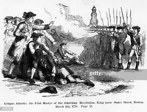 Crispus Attucks a freed black sailor becomes one of the first American martyrs to give his life for freedom When British troops arrived in Boston to...