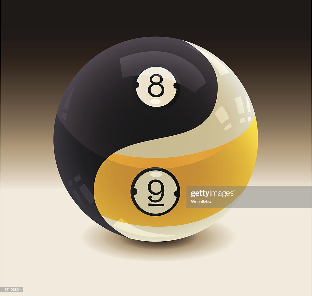 8ball and 9ball yin yang vector art getty images - 8 ball pictures ...