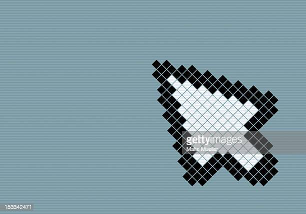 8-bit style cursor arrow - computermaus stock-grafiken, -clipart, -cartoons und -symbole