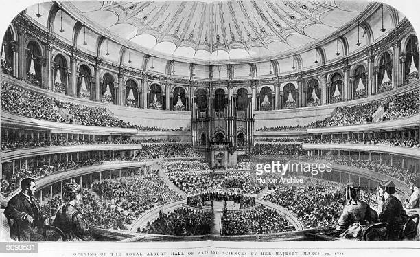 The opening of the Royal Albert Hall of Arts and Sciences by Queen Victoria. Original Publication: The Graphic