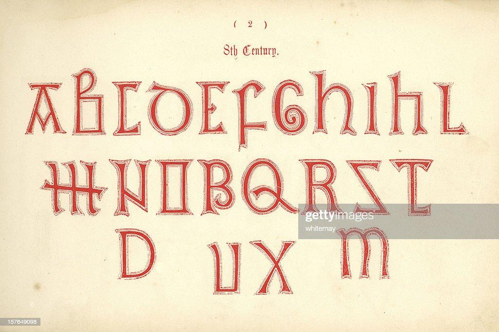 8th century old english alphabet stock illustration getty images 8th century old english alphabet stock illustration thecheapjerseys Choice Image