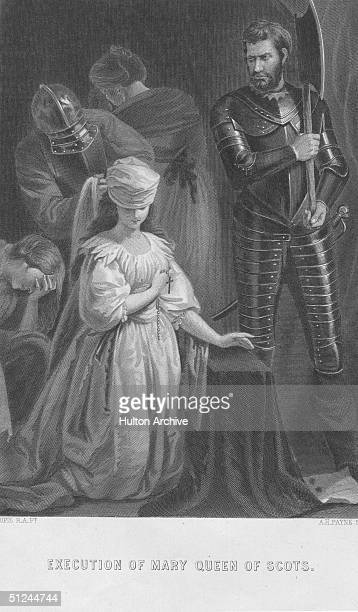 8th February 1587, The execution of Mary, Queen of Scots, .