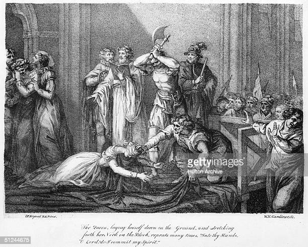 8th February 1587, The execution of Mary Queen of Scots . The Queen was heard to repeat 'Into thy Hands O Lord, do I commit my Spirit' many times as...