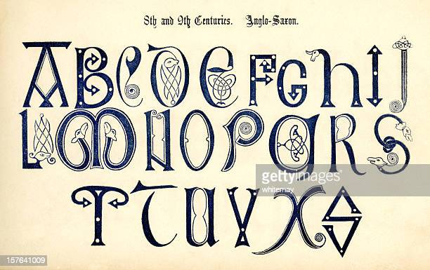 8th-9th century Anglo-Saxon lettering