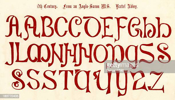 9th Century Anglo Saxon Alphabet