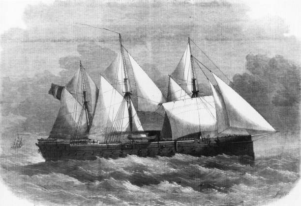 The French ironclad frigate 'La Gloire'. Illustrated...