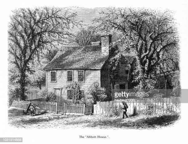 Abbott House, Providence, Rhode Island, United States, American Victorian Engraving, 1872
