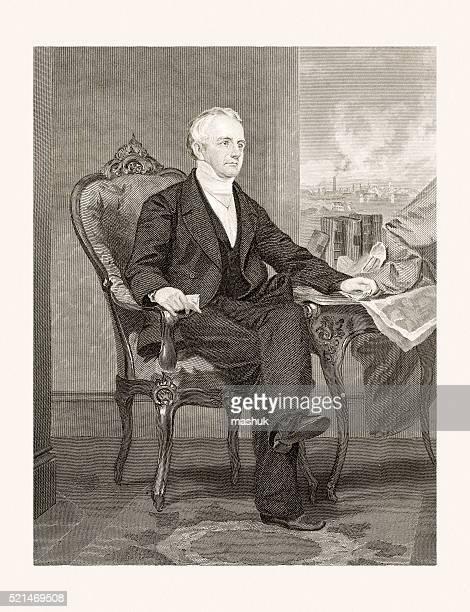 Abbott Lawrence, 19 century portrait