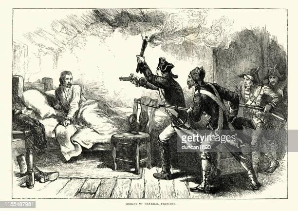 ilustrações, clipart, desenhos animados e ícones de rapto do general britânico richard prescott, guerra revolucionária americana - american revolution