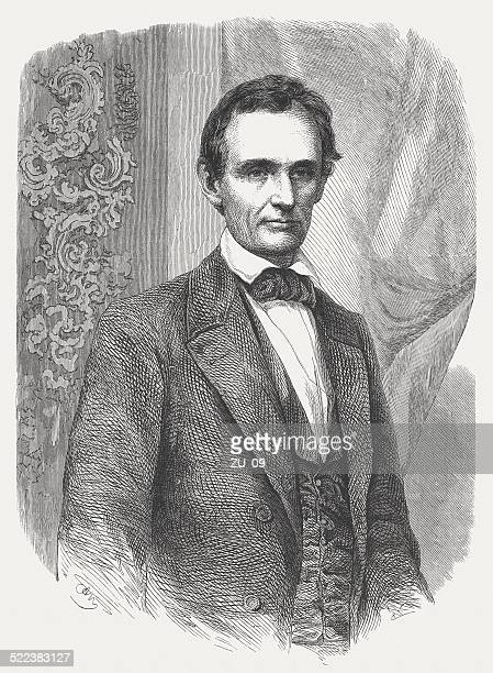 abraham lincoln (1809-1865), 16th us-president, wood engraving, published in 1862 - former stock illustrations, clip art, cartoons, & icons