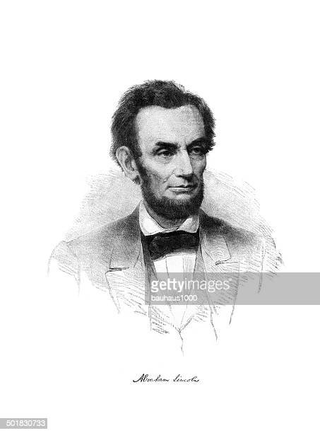 abraham lincoln engraving - president stock illustrations, clip art, cartoons, & icons
