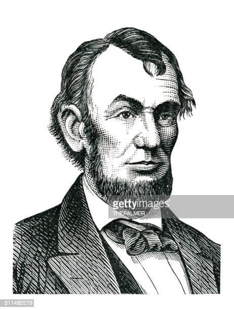 Abraham Lincoln gravação ilustração