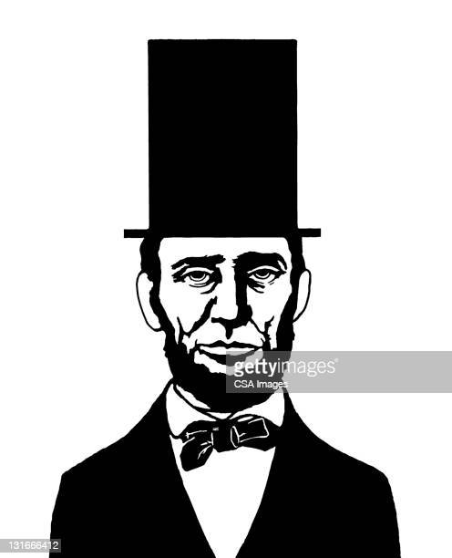 abraham lincoln - president stock illustrations, clip art, cartoons, & icons