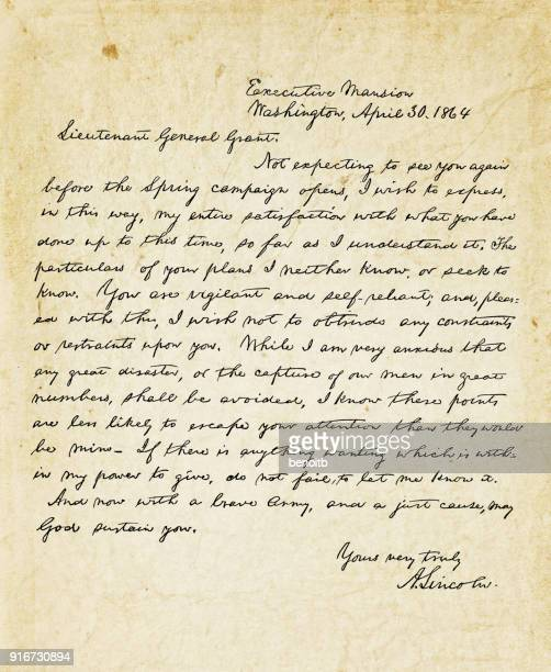 Abraham Lincoln letter to Lieutenant General Grant in 1864