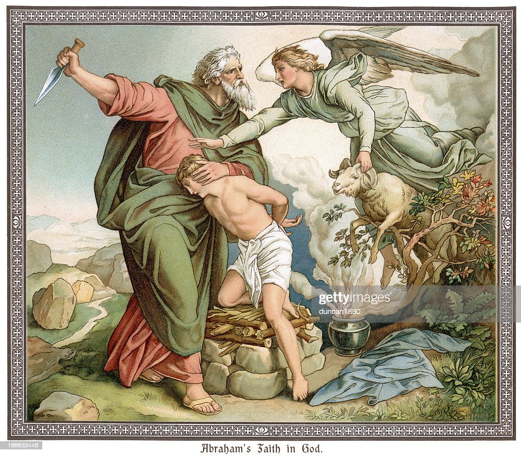 Abraham's Faith in God : Stock Illustration