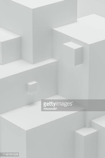 abstract 3d angular shapes - three dimensional stock illustrations