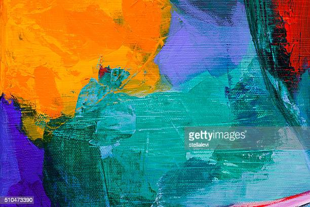 abstract acrylic painting - painted image stock illustrations