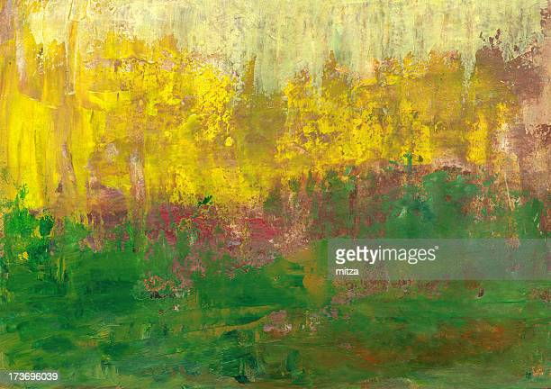 Abstract Background in Green and Yellow