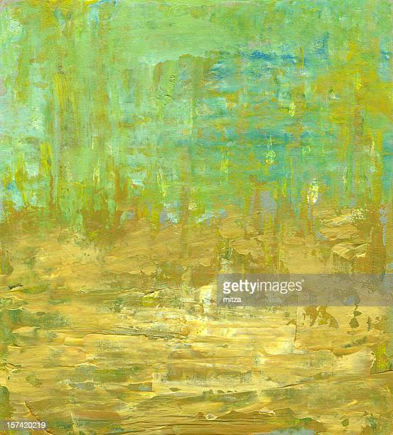 Abstract Background in Light Green and Yellow