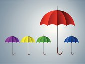 Abstract background with umbrellas