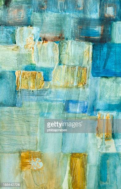 abstract blue and yellow modern art - modern art stock illustrations