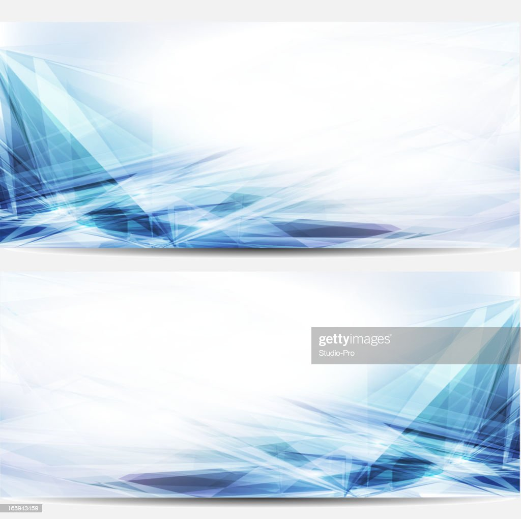 Abstract blue business banners