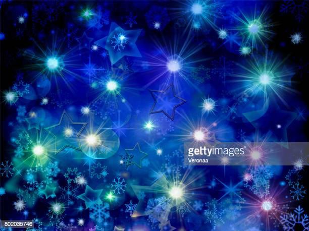 abstract blue holidays background - glühend stock illustrations