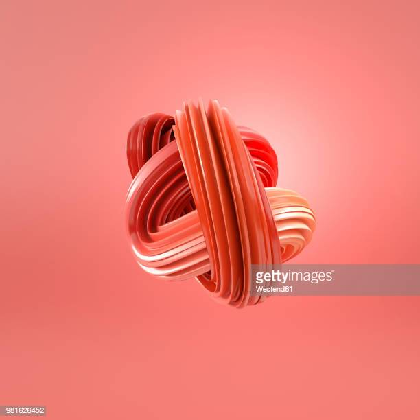 abstract blue swirl, 3d rendering - copy space stock illustrations