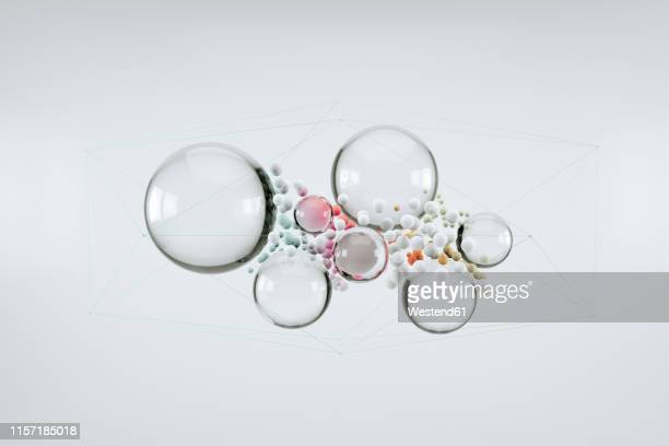 abstract bubbles - transparent stock illustrations