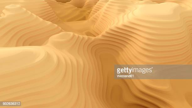 Abstract canyon pattern, 3d rendering