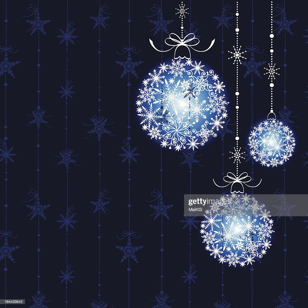 Abstract Christmas balls on seamless pattern background