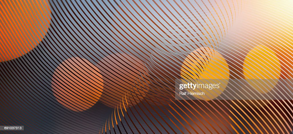 Abstract curve lines with spotted lights over colored background : Stock Illustration