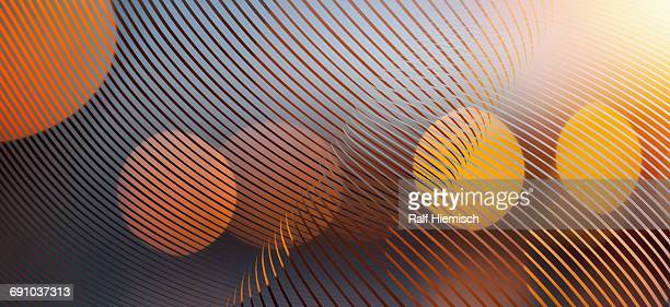 abstract curve lines with spotted lights over colored background - technology stock illustrations