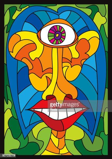 illustrations, cliparts, dessins animés et icônes de abstrait cyclope - cyclope