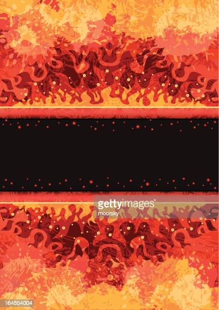 abstract fire frame - lava stock illustrations, clip art, cartoons, & icons