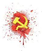 Abstract grunge ussr symbol