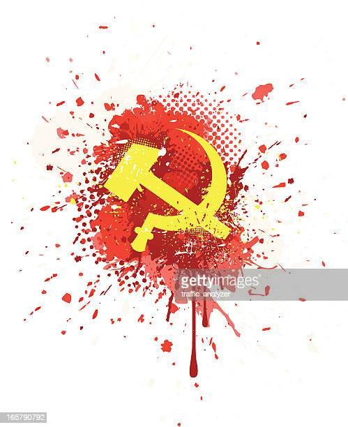 ilustraciones, imágenes clip art, dibujos animados e iconos de stock de abstracto grunge símbolo de la ex unión soviética - socialismo