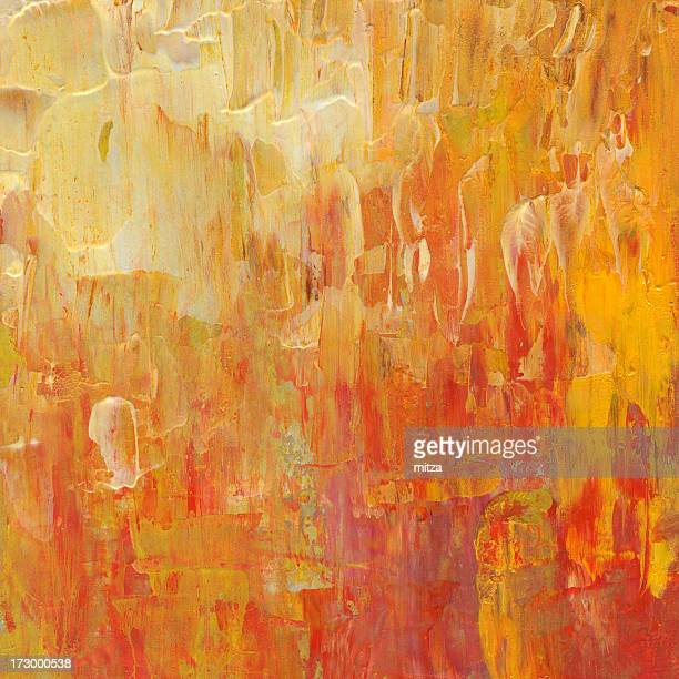 abstract in red,yellow and orange - mixed media stock illustrations
