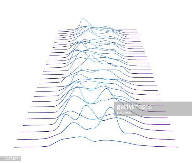 ilustraciones, imágenes clip art, dibujos animados e iconos de stock de abstract line pattern - valle