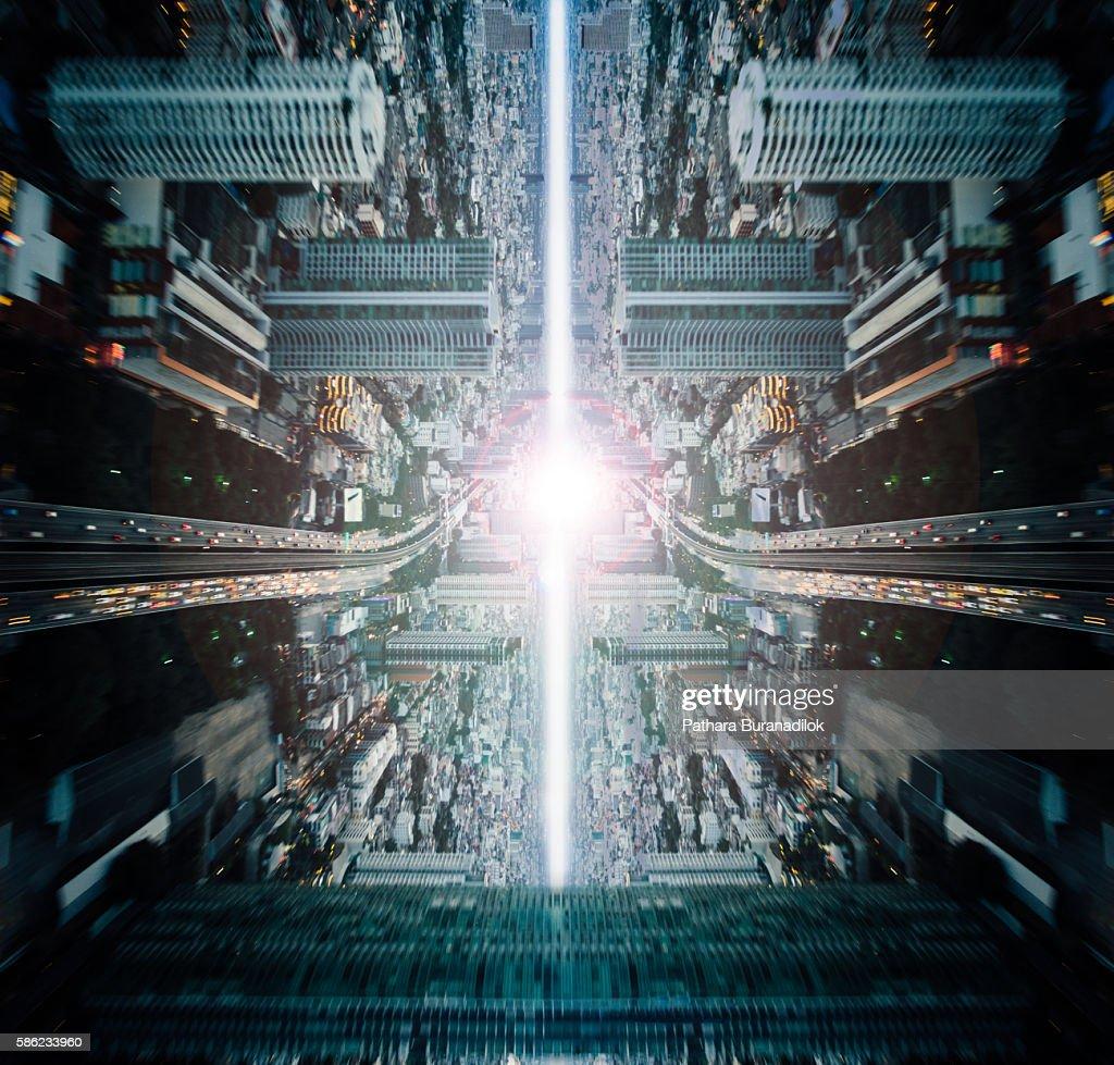 Abstract Metropolis concept : stock illustration