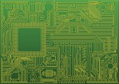 Abstract microchip background