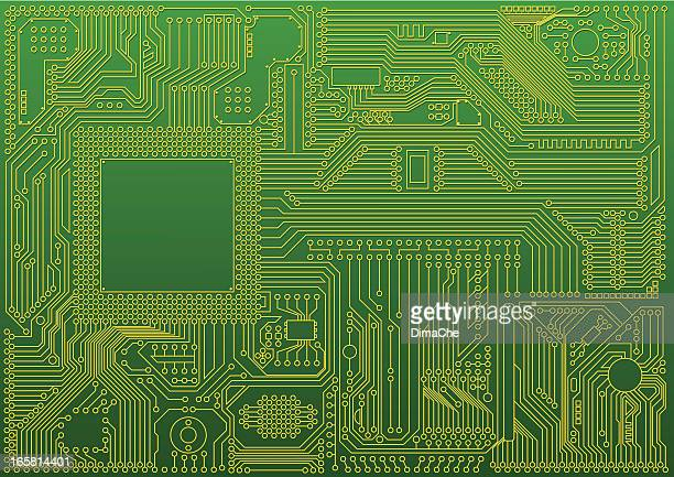 abstract microchip background - computer chip stock illustrations, clip art, cartoons, & icons