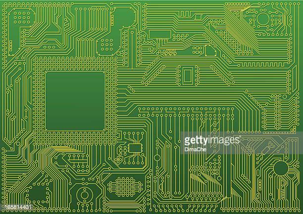 microchip の抽象的な背景 - 回路基板点のイラスト素材/クリップアート素材/マンガ素材/アイコン素材