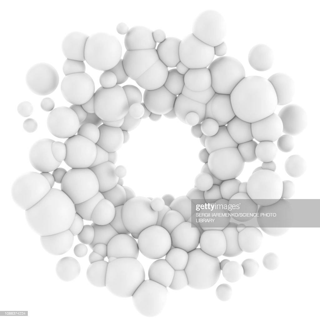 Abstract molecular structure, illustration : Stock Illustration