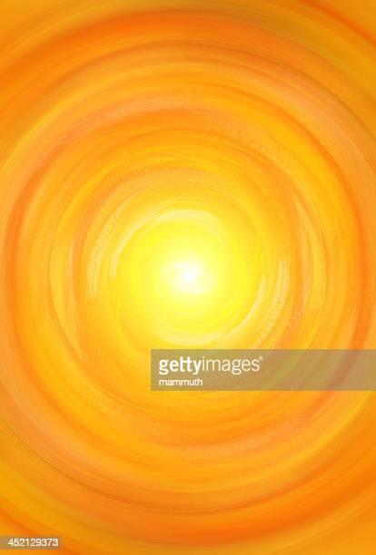 illustrations, cliparts, dessins animés et icônes de abstrait orange vortex - fond orange