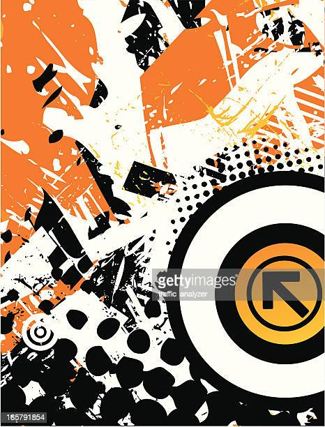 Abstract orange/black background
