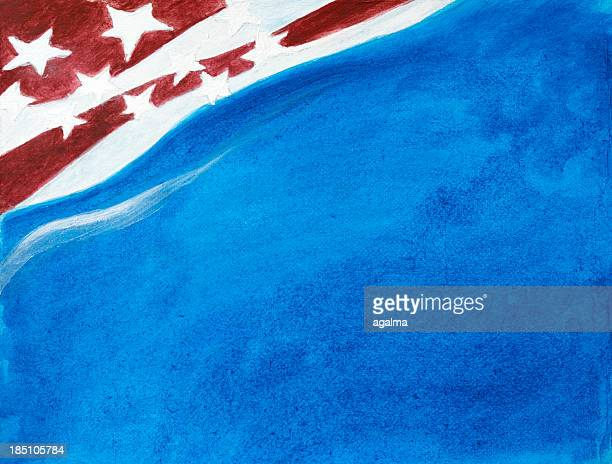 abstract painted american flag - grunge image technique stock illustrations