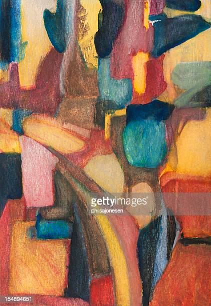 abstract painting - modern art stock illustrations